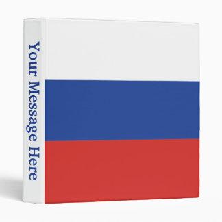 Russia Plain Flag Binder