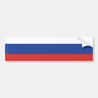 Russia Plain Flag Bumper Sticker