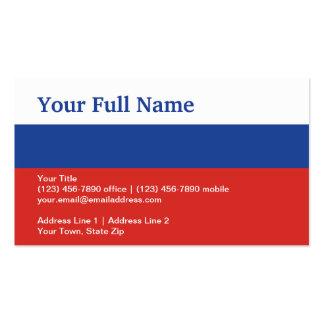 Russia Plain Flag Business Card