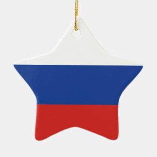 Russia Plain Flag Ceramic Ornament
