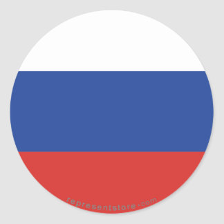 Russia Plain Flag Classic Round Sticker