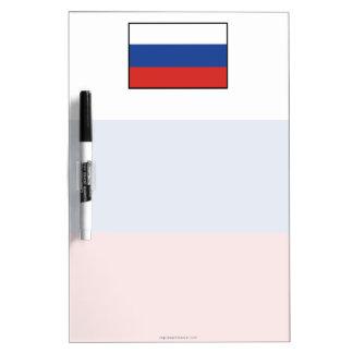 Russia Plain Flag Dry-Erase Board