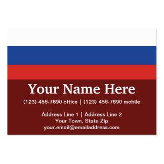 Russia Plain Flag Large Business Card