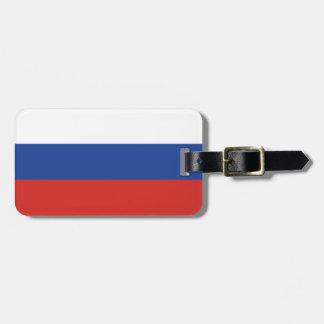 Russia Plain Flag Luggage Tag