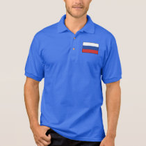 Russia Plain Flag Polo Shirt