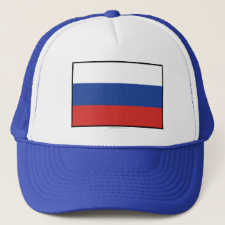 Russia Plain Flag Trucker Hat