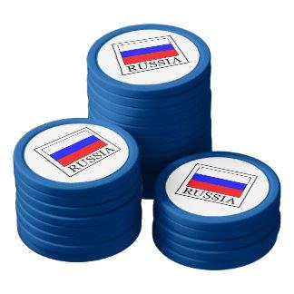 Russia Poker Chip Set