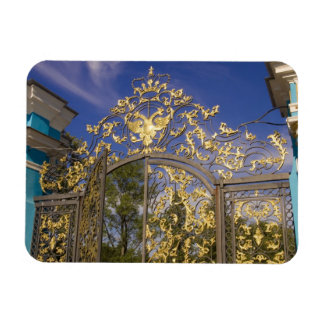 Russia, Pushkin. Gate detail and support towers Magnet