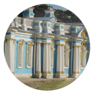 Russia, Pushkin. Portion of Catherine Palace. Dinner Plate