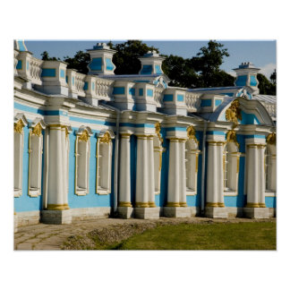 Russia, Pushkin. Portion of Catherine Palace. Poster