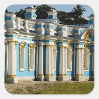 Russia, Pushkin. Portion of Catherine Palace. Square Sticker
