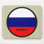 Russia Roundel quality Flag Mouse Pad