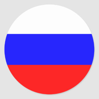 Russia – Russian Flag Classic Round Sticker