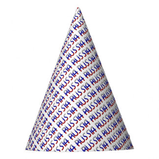 Russia Russian Flag Colors Typography Elegant Party Hat