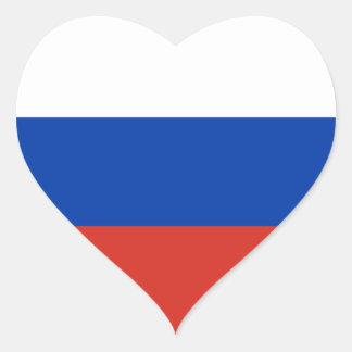 Russia/Russian Flag Heart Sticker
