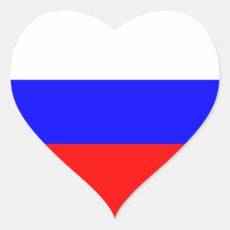Russia – Russian Flag Heart Sticker