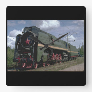 Russia, Ry 4-8-4 #0071_Trains of the World Square Wall Clock