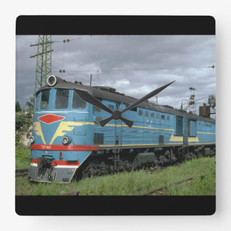 Russia, Ry early class_Trains of the World Square Wall Clock