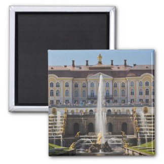Russia, Saint Petersburg, Peterhof, Grand Palace 2 Inch Square Magnet