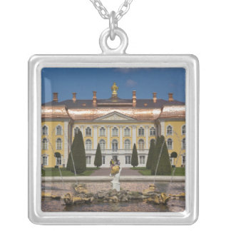 Russia, Saint Petersburg, Peterhof, Grand Palace 3 Silver Plated Necklace