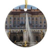 Russia, Saint Petersburg, Peterhof, Grand Palace 4 Ceramic Ornament
