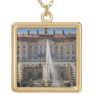 Russia, Saint Petersburg, Peterhof, Grand Palace 4 Personalized Necklace
