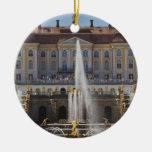 Russia, Saint Petersburg, Peterhof, Grand Palace 4 Double-Sided Ceramic Round Christmas Ornament