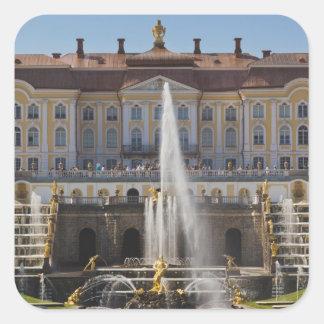 Russia, Saint Petersburg, Peterhof, Grand Palace 4 Square Sticker