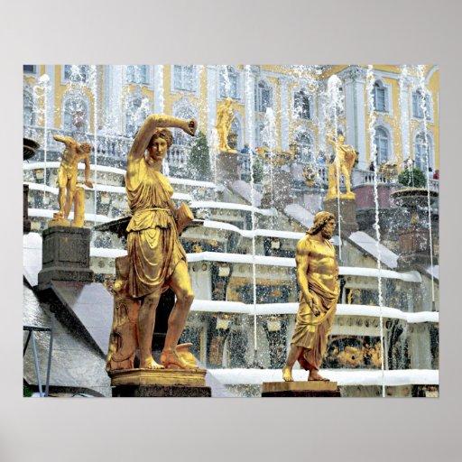 Russia, Saint Petersburg, Peterhof, Samson and Print