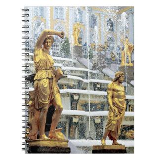 Russia, Saint Petersburg, Peterhof, Samson and Spiral Notebook
