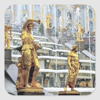 Russia, Saint Petersburg, Peterhof, Samson and Square Sticker