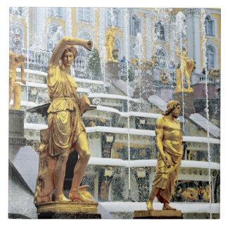 Russia, Saint Petersburg, Peterhof, Samson and Tile