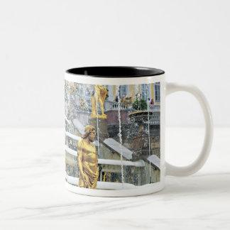 Russia, Saint Petersburg, Peterhof, Samson and Two-Tone Coffee Mug