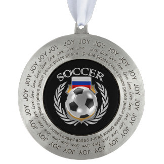 Russia Soccer 2016 Fan Gear Pewter Ornament