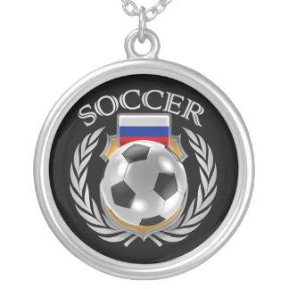 Russia Soccer 2016 Fan Gear Silver Plated Necklace