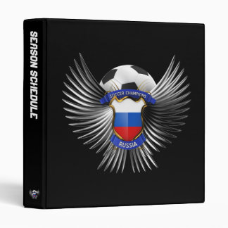 Russia Soccer Champions 3 Ring Binder
