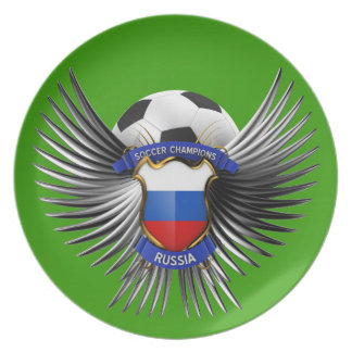 Russia Soccer Champions Dinner Plates