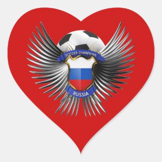 Russia Soccer Champions Heart Sticker