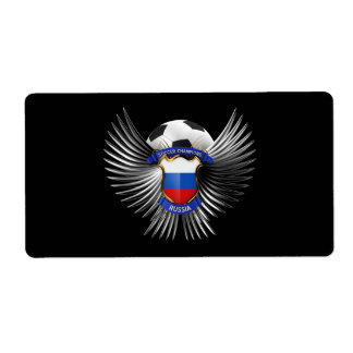 Russia Soccer Champions Shipping Label