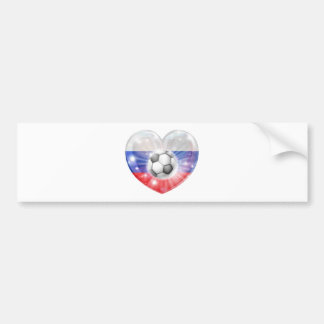 Russia soccer heart flag bumper stickers