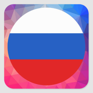 Russia Souvenir Square Sticker