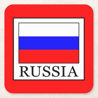 Russia Square Paper Coaster