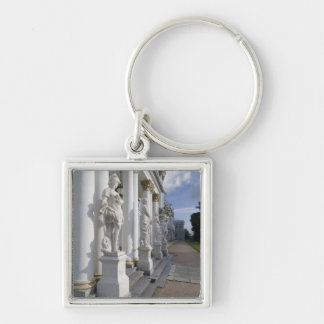 Russia, St. Petersburg, Catherine's Palace (aka 10 Silver-Colored Square Keychain