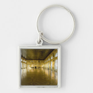 Russia, St. Petersburg, Catherine's Palace (aka 11 Silver-Colored Square Keychain