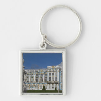 Russia, St. Petersburg, Catherine's Palace (aka 3 Silver-Colored Square Keychain