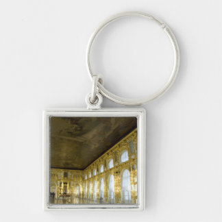 Russia, St. Petersburg, Catherine's Palace (aka 4 Silver-Colored Square Keychain