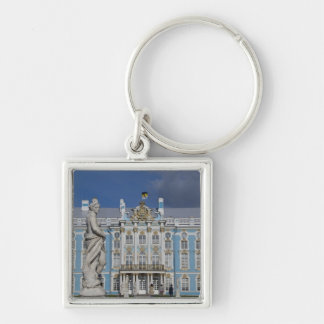 Russia, St. Petersburg, Catherine's Palace (aka 5 Silver-Colored Square Keychain