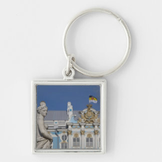 Russia, St. Petersburg, Catherine's Palace (aka 7 Silver-Colored Square Keychain