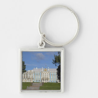 Russia, St. Petersburg, Catherine's Palace (aka 9 Silver-Colored Square Keychain