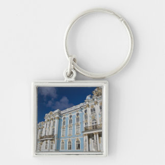 Russia, St. Petersburg, Catherine's Palace (aka Silver-Colored Square Keychain